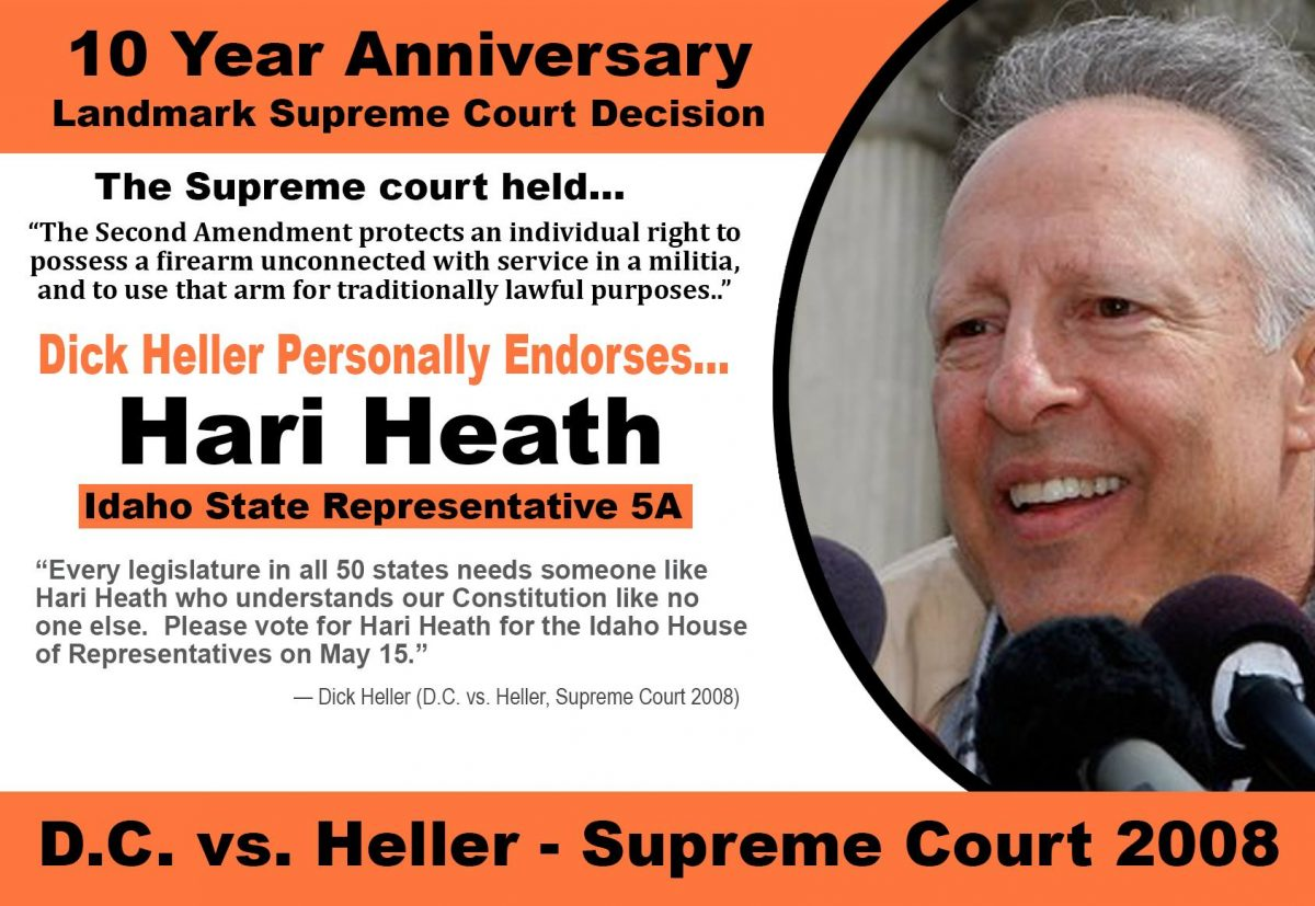Dick Heller (D.C. vs. Heller) Endorses Hari Heath for District 5 State Representative